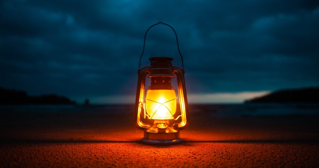 Remote worker, like a lamp in the darkness